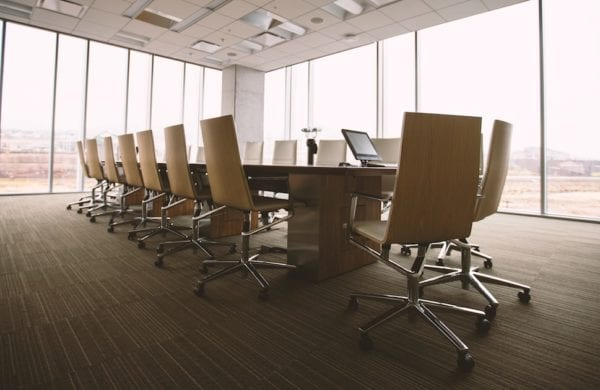 an empty conference room